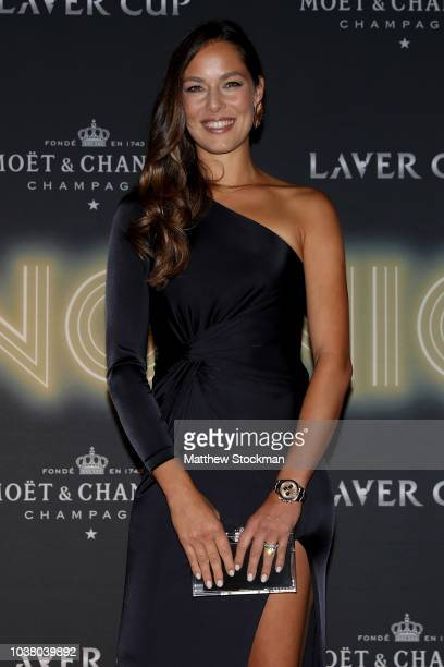 Ana Ivanovic of Serbia arrives on the Black Carpet during the Laver Cup Gala at the Navy Pier Ballroom on September 20 2018 in Chicago Illinois The...