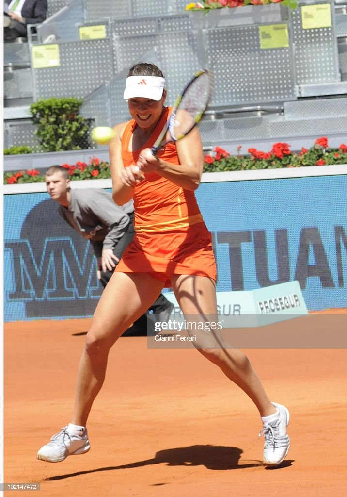 Ana Ivanovic, SRB,, in 'Mutua Madrilena Madrid Open' of tennis, 8th May 2010, in 'La Caja Magica'. Madrid, Spain.