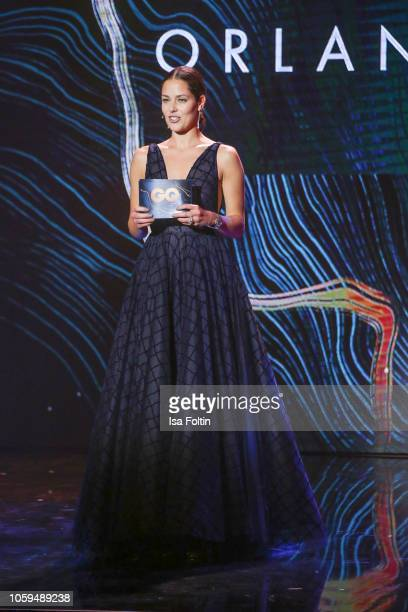 Ana IvanovicSchweinsteiger is seen on stage during the GQ Men of the Year Award show at Komische Oper on November 8 2018 in Berlin Germany