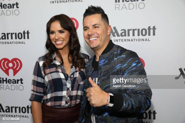 Ana Jurka and Karim Mendiburo attend the iHeartRadio Fiesta Latina Celebrating Our Heroes at American Airlines Arena on November 4 2017 in Miami...