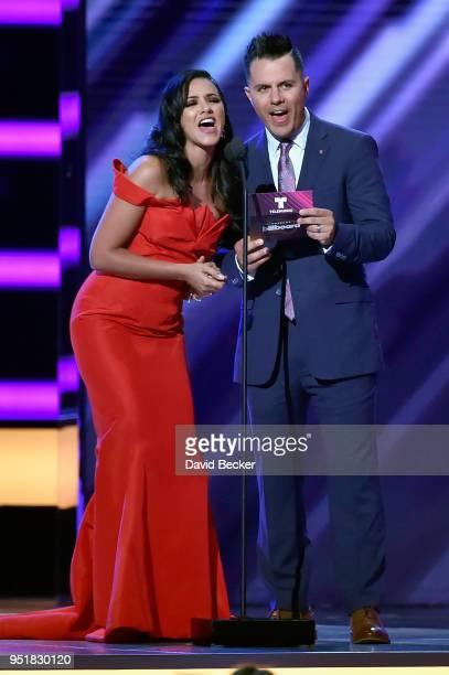 Ana Jurka and Karim Mendiburu onstage at the 2018 Billboard Latin Music Awards at the Mandalay Bay Events Center on April 26 2018 in Las Vegas Nevada