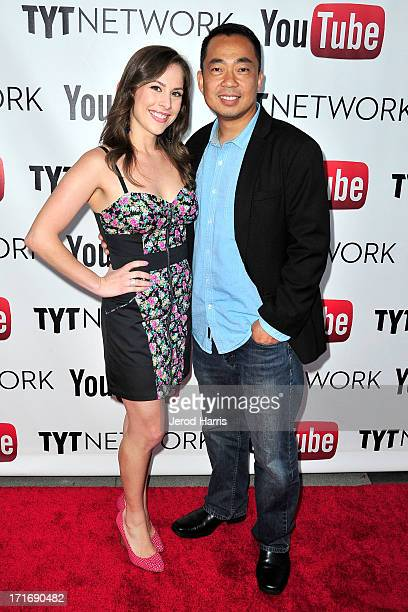 Ana Kasparian and Steve Oh arrive at YouTube and TYT Network Present the 1st Annual YouTube PRIDE Party Hosted By Dave Rubin at YouTube Space LA on...