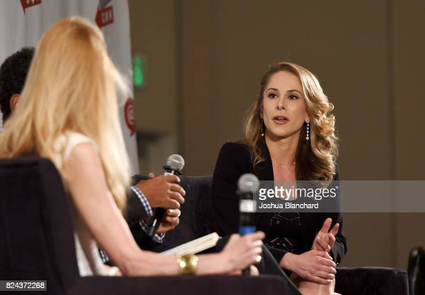 Ana Kasparian at 'Ann Coulter vs Ana Kasparian' panel during Politicon at Pasadena Convention Center on July 29 2017 in Pasadena California