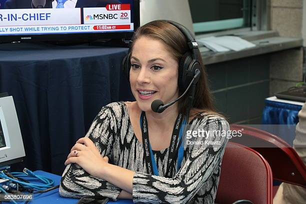 Ana Kasparian Producer of the Young Turks on SiriusXM Business News on July 27 2016 in Philadelphia Pennsylvania