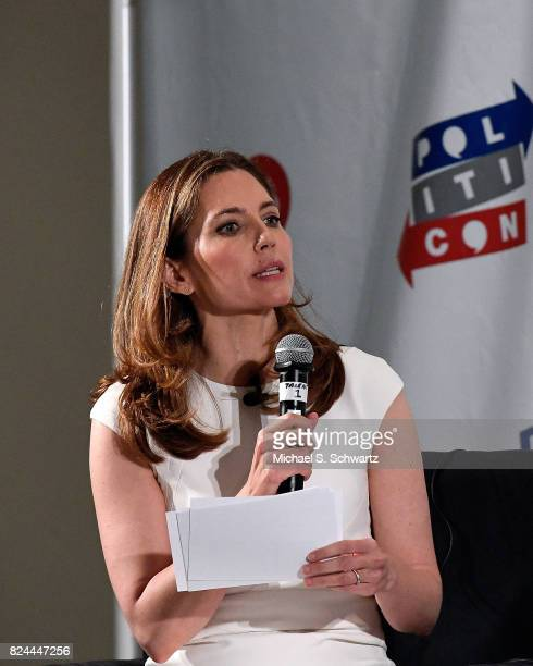 Ana Kasparian speaks during her appearance at Pasadena Convention Center on July 29 2017 in Pasadena California