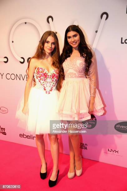 Ana Kohler attends with LisaMarie Schiffner the GLOW The Beauty Convention at Station on November 4 2017 in Berlin Germany