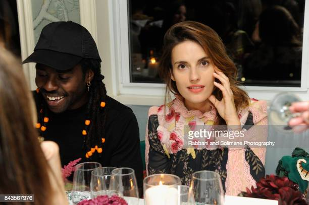 Ana Kras and Dev Hynes attend Susan Chokachi and Linda Fargo host a private dinner to introduce Gucci Decor at BG Restaurant Bergdorf Goodman on...