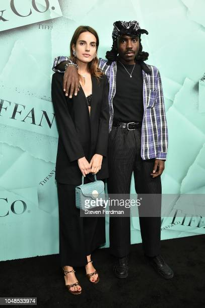 Ana Kras and Dev Hynes attend the 2018 Tiffany Co Blue Book Gala on October 9 2018 in New York City