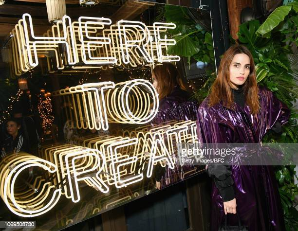 Ana Kras attends Adidas Originals British Fashion Council and David Beckham host a dinner in celebration of their creative collaboration on December...