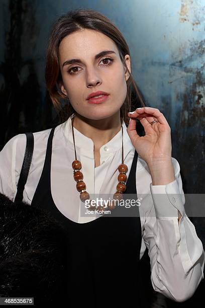 Ana Kras attends the Assembly New York presentation duirng MercedesBenz Fashion Week Fall 2014 at The National Arts Club on February 10 2014 in New...