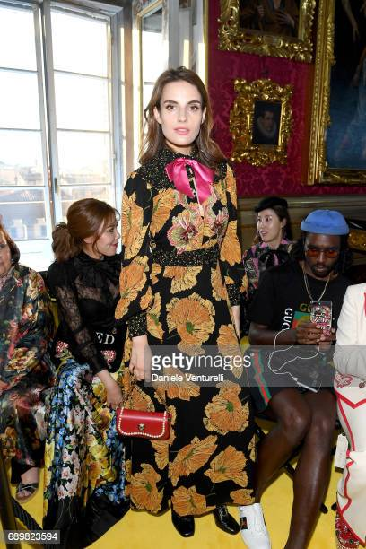 Ana Kras attends the Gucci Cruise 2018 fashion show at Palazzo Pitti on May 29 2017 in Florence Italy