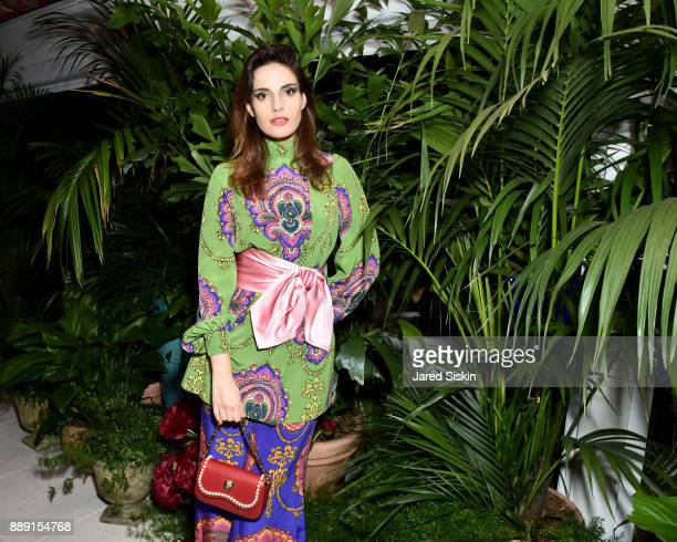 Ana Kras attends the Gucci X Artsy dinner at Faena Hotel on December 6 2017 in Miami Beach Florida