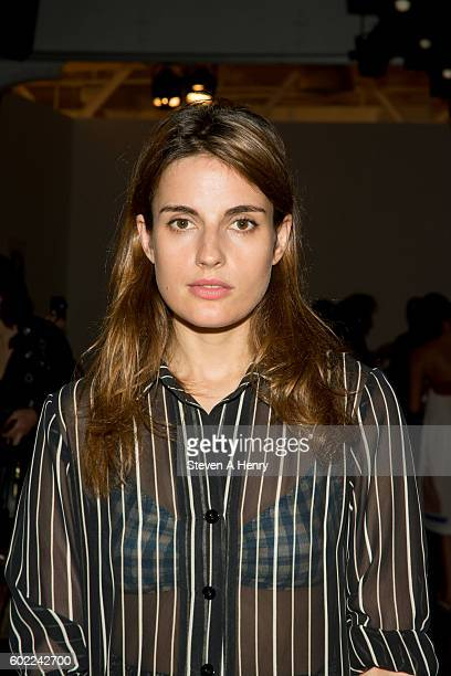 Ana Krass at the A Detacher fashion show during New York Fashion Week September 2016 at Pier 59 on September 10 2016 in New York City