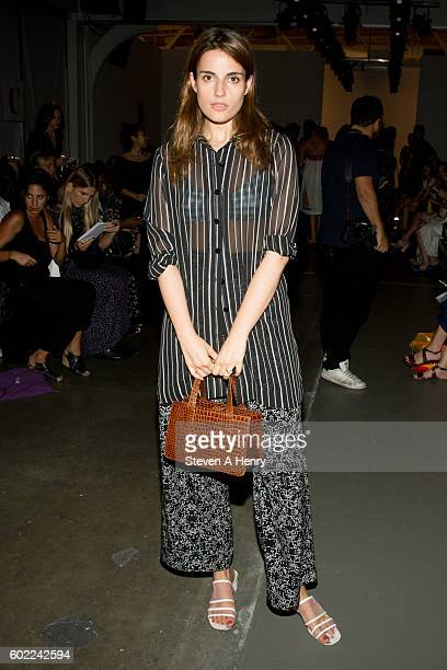 Ana Krass at the A Detacher Front Row Backstage September 2016 New York Fashion Week at Pier 59 on September 10 2016 in New York City