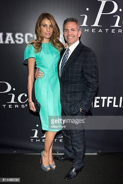 Ana Laspetkovski and CEO of Howard Hughes Corporation David Weinreb attend the Mascots New York Premiere at iPic Fulton Market on October 13 2016 in...