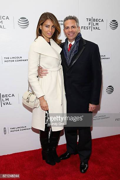 Ana Laspetkovski and CEO of The Howard Hughes Corporation David Weinreb attends the Betting On Zero Premiere during the 2016 Tribeca Film Festival at...
