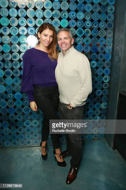 Ana Laspetkovski and David Weinreb attend the Edo Ferragamo after party at 10 Corso Como on February 13 2019 in New York City