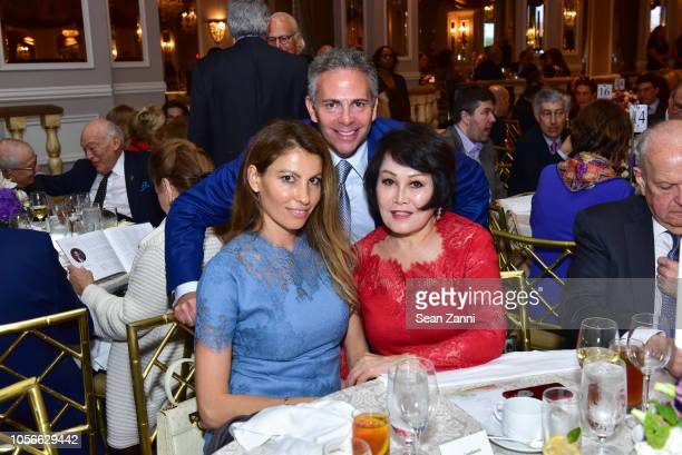 Ana Laspetkovski David R Weinreb and YueSai Kim attend the Alzheimer's Drug Discovery Foundation's Ninth Annual Fall Symposium Luncheon at The Pierre...