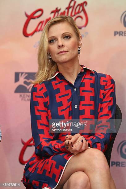 Ana Layevska attends a press conference and photo call to promote the new film 'Cantinflas' at Hotel Presidente Intercontinental on September 8 2014...