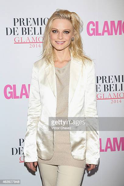 Ana Layevska attends premios de belleza Glamour 2014 at salon Mayita on February 19 2015 in Mexico City Mexico