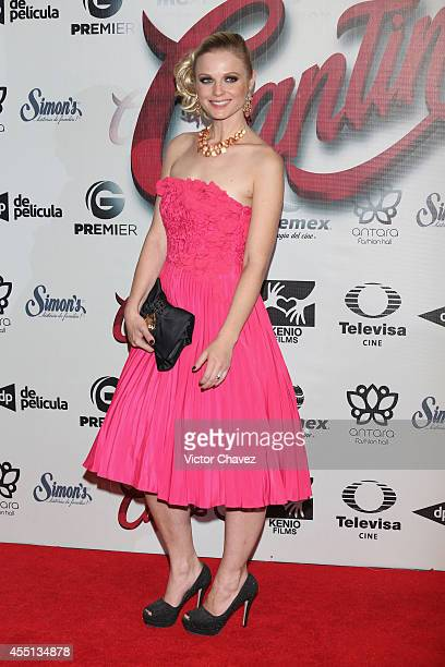 Ana Layevska attends the Cantinflas Mexico City premiere at Cinemex Antara Polanco on September 9 2014 in Mexico City Mexico