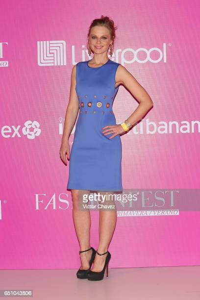 Ana Layevska attends the Liverpool Fashion Fest Spring/Summer 2017 at Televisa San Angel on March 9 2017 in Mexico City Mexico