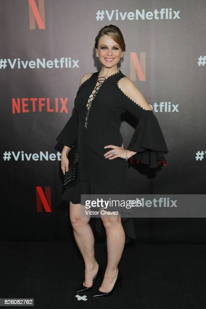 Ana Layevska attends the Vive Netflix 2017 at Museo Casa de la Bola on August 2 2017 in Mexico City Mexico