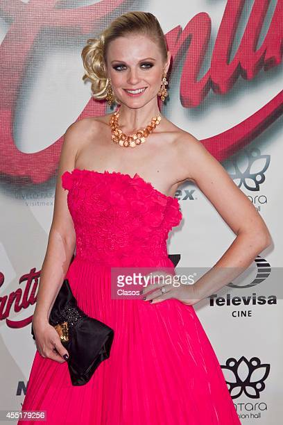 Ana Layevska during the red carpet of the mexican movie Cantinflas at Cinemex Antara on September 9 2014 in Mexico City Mexio