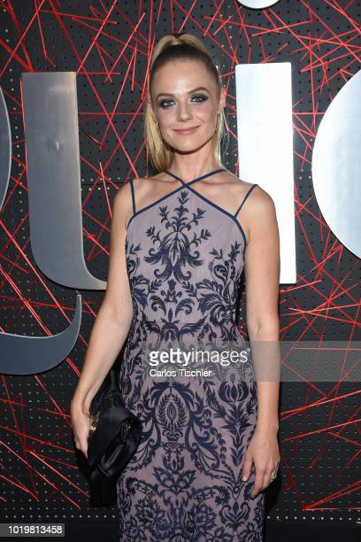 Ana Layevska poses for photos during the red carpet for 'Quien' magazine's 18th anniversary at Foro Masaryk on August 15 2018 in Mexico City Mexico