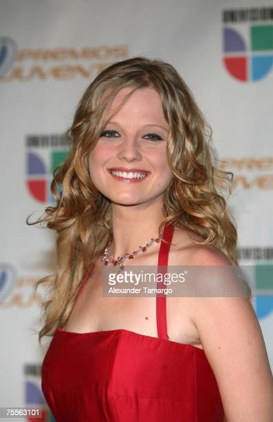 Ana Layevska poses in the press room during Premios Juventud at the Bank United Center on July 19 2007 in Coral Gables Florida