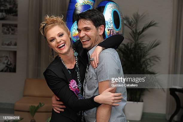 Ana Layevska's and Francisco Rubio attends Ana Layevska's birthday party at the Breakwater Hotel on January 14 2012 in Miami Beach Florida