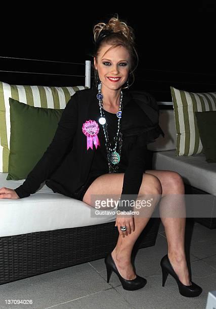 Ana Layevska's attends Ana Layevska's birthday party at the Breakwater Hotel on January 14 2012 in Miami Beach Florida