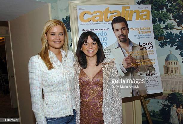 Ana Ledo Univision contributing reporter and Cathy Areu Catalina Magazine publisher