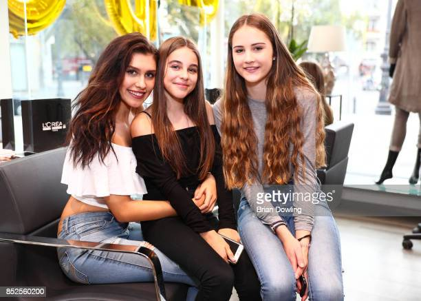 Ana Lisa Kohler and friends attend the Influencer event 'Create Your New Look' hosted by Udo Walz on September 23 2017 at the Udo Walz Salon in...