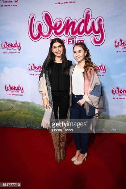 Ana Lisa Kohler and Kassii attend the premiere of 'Wendy Der Film' at Cinedom on January 15 2016 in Cologne Germany
