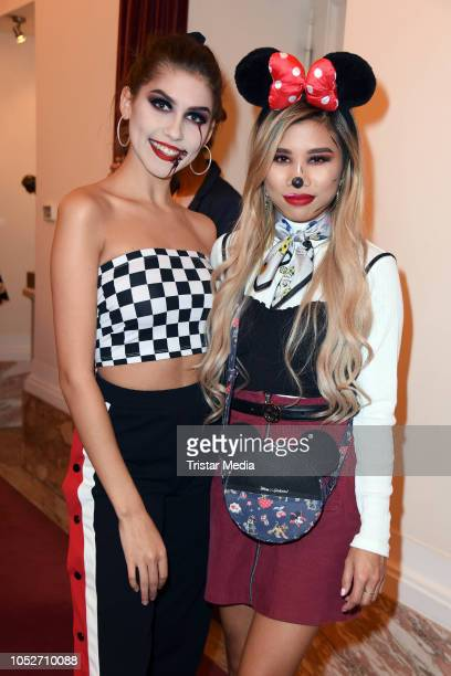 Ana Lisa Kohler and Kisu attend the musical premiere of 'Tanz der Vampire' at Theater des Westens on October 21 2018 in Berlin Germany