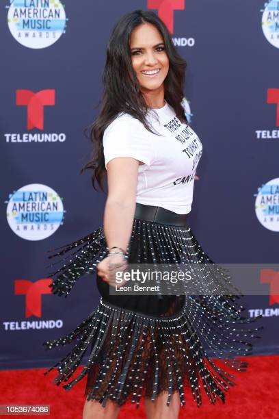 Ana Lorena Sanchez attends the 2018 Latin American Music Awards Arrivals at Dolby Theatre on October 25 2018 in Hollywood California