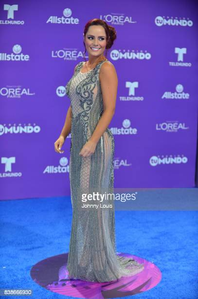 Ana Lucia Dominguez arrives at Telemundo's 2017 'Premios Tu Mundo' at American Airlines Arena on August 24 2017 in Miami Florida