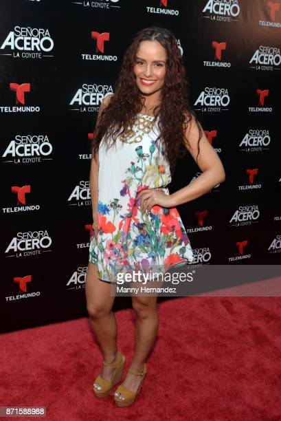 Ana Lucia Dominguez at the 'Senora Acero La Coyote' Miami Premiere at Cinebistro on November 6 2017 in Doral Florida