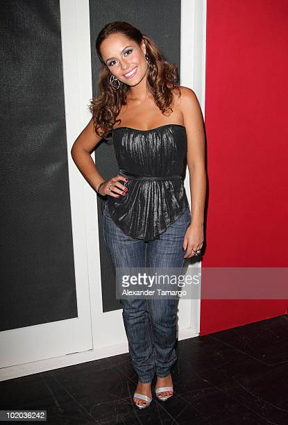 Ana Lucia Dominguez attends the premiere of 'Un Amante a la Medida' at the Gusman Center for the Performing Arts on June 12 2010 in Miami Florida