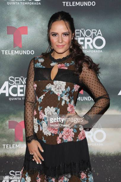 Ana Lucia Dominguez attends the special screening of Telemundo tv series 'Senora Acero 5th season' on October 10 2018 in Mexico City Mexico