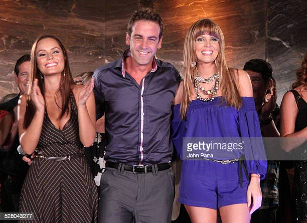 Ana Lucia Dominguez Carlos Ponce and Maritza Rodriguez attend Perro Amor launch party at W Hotel on December 7 2009 in Miami Beach Florida