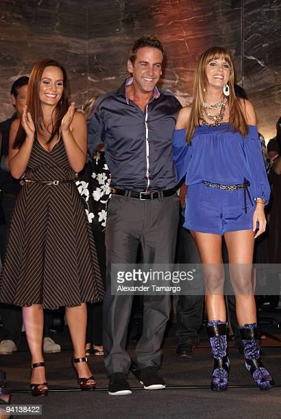 Ana Lucia Dominguez Carlos Ponce and Maritza Rodriguez attend Telemundo's Perro Amor launch party at W Hotel on December 7 2009 in Miami Beach Florida