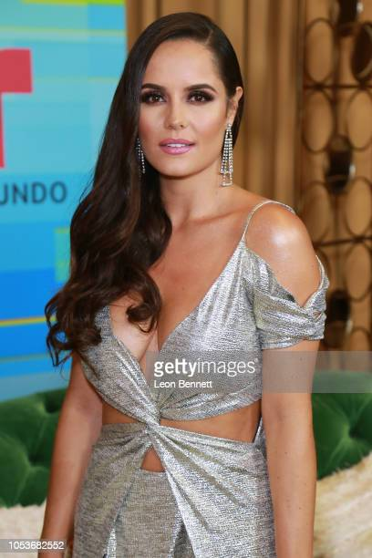 Ana Lucia Dominguez poses at the 2018 Latin American Music Awards Press Room at Dolby Theatre on October 25 2018 in Hollywood California
