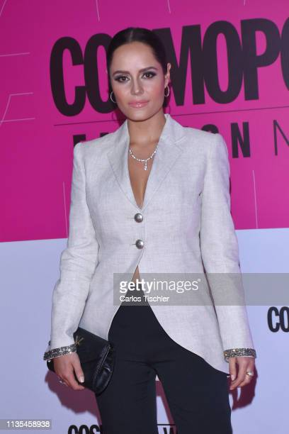 Ana Lucia Dominguez poses for photos during the red carpet of Cosmopolitan Fashion Night at Campo Marte on March 12 2019 in Mexico City Mexico