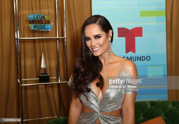 Ana Lucia Dominguez poses in the press room during the 2018 Latin American Music Awards at Dolby Theatre on October 25 2018 in Hollywood California