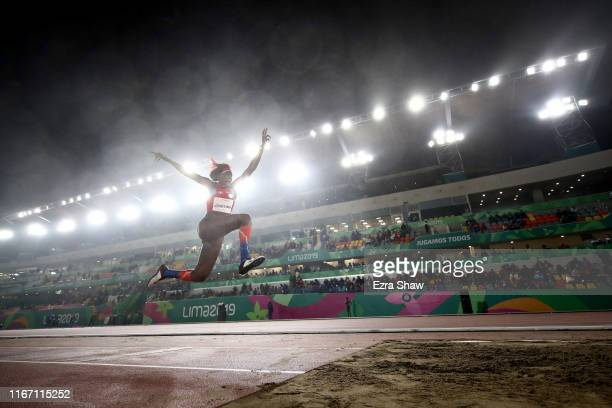 Ana Lucia Jose Tima of the Dominican Republic competes in the women's triple jump on Day 14 of Lima 2019 Pan American Games at the Athletics Stadium...