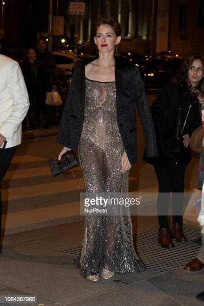 Ana María Polvorosa poses as she arrives at the GQ Men of the Year 2018 Awards in Madrid Spain 22 November 2018