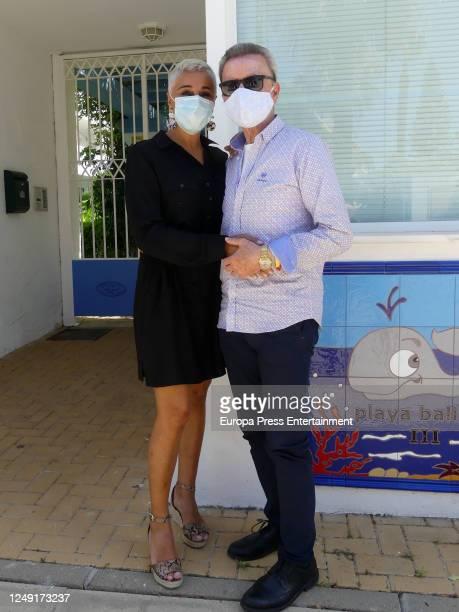 Ana Maria Aldon and Jose Ortega Cano are seen on June 11, 2020 in San Lucar de Barrameda, Spain.