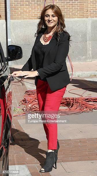 Ana Maria Aldon attends bullfighting during San Isidro Fair at Las Ventas Bullring on May 22 2015 in Madrid Spain